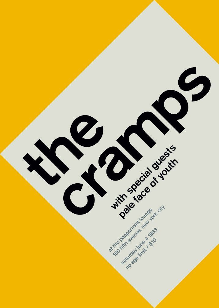 the cramps at peppermint lounge, 1983: Mike Joyce, Picture-Black Posters, Vintage Punk, Swiss Modern, Punk Rocks, Graphics Design, Peppermint Lounges, Swiss Design, Modernist Posters