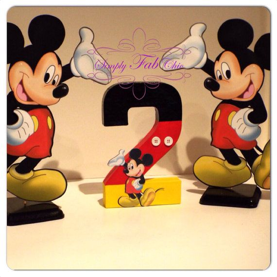 Mickey Mouse Centerpiece / Table Decor on Etsy, $12.00
