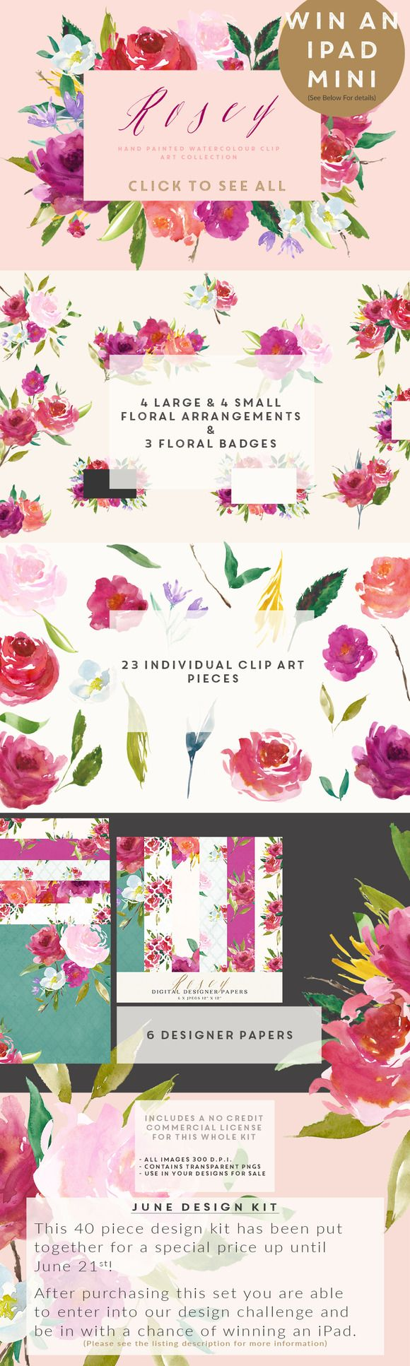 LET'S DO THIS GUYS! June Design Challenge Kit by CreateTheCut on Creative Market