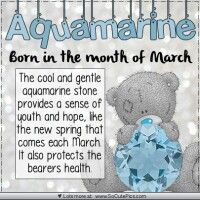 Aquamarine-March-- My birth month