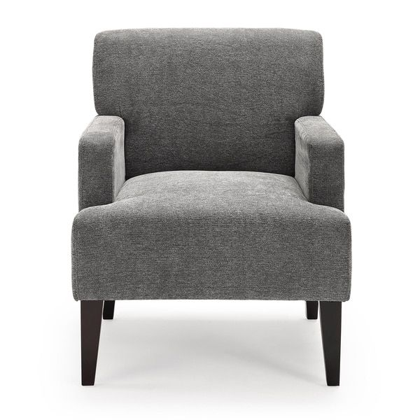 Add A Modern Classic To Your Home Decor With This Tux Accent Chair.  Available In A Variety Of Colors, This Chair Feature Simple And Elegant Arms  As Well As ...
