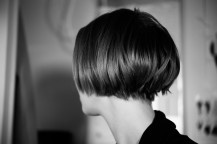 NIce under-cut. Having the hair taken out under the veil allows the hair to move more and appear more free flowing!