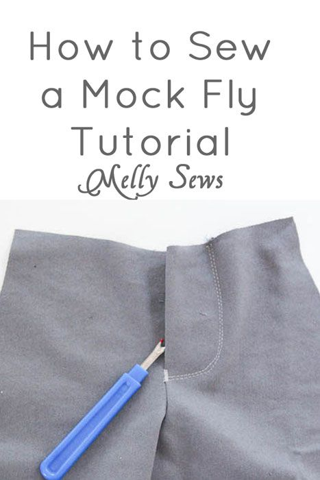 How to Sew - Mock Fly Tutorial