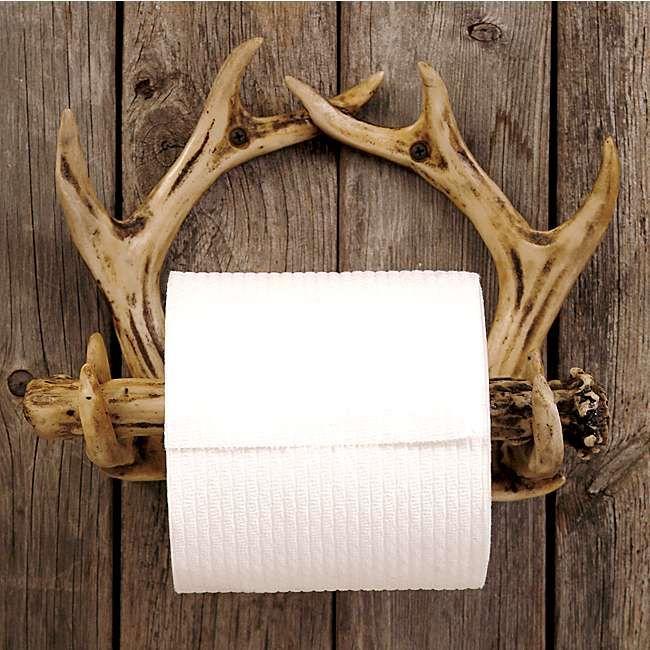 Superbe Bathroom Decor :: Mooseville Moose Gifts. Antler Toilet Paper Holder