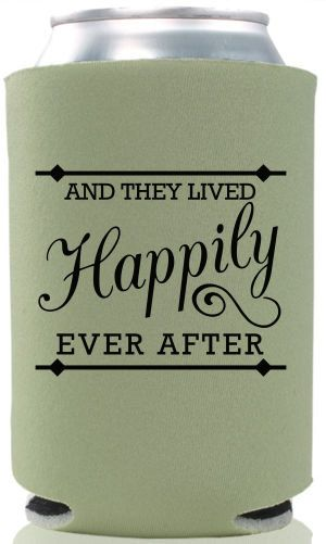 FREE SHIPPING Happily Ever After Wedding Reunion Can Bottle Holder Party Favors Trinkets Coolers Personalized Custom Beer Can Foam by WeddingsandReunions on Etsy