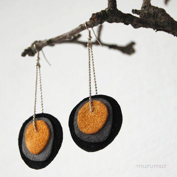 Orecchini / Orecchini fatti a mano con arancione e di missismiss
