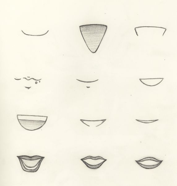 Рот картинки для срисовки
