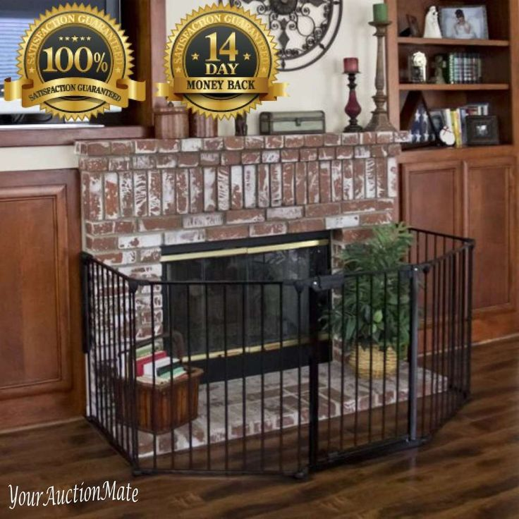 Baby Fireplace Gate Part - 18: Fireplace Gate Protection Safety Fence Hearth Baby Toddler Pets BBQ Fire  Metal