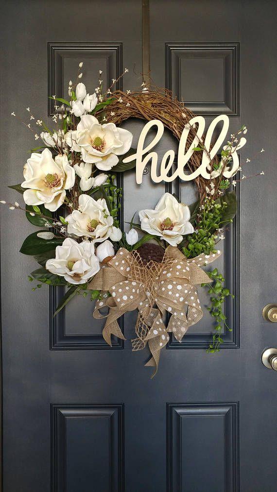 BEST SELLING WREATH,Grapevine Wreath,Summer Wreath,Front Door Wreath,Mother's Day Gift,Elegant Wreath,Magnolia Wreath,Wreaths For Door