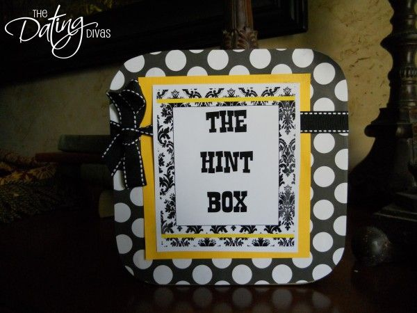Such a cute idea..how about one for each spouse!: Good Ideas, Date Divas, Gifts Ideas, Hints Boxes Marriage, Romantic Life, 10 Things, Things To Make, Great Ideas, 15 Years