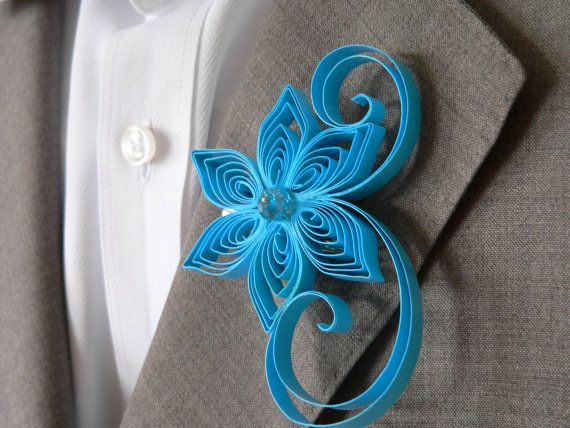 Hey, I found this really awesome Etsy listing at https://www.etsy.com/listing/165617037/malibu-blue-boutonniere-vivid-blue