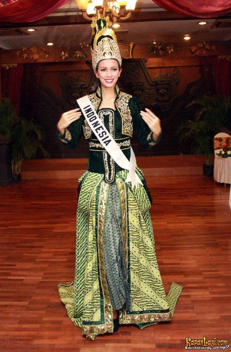 Miss Indonesia  National Costume.  one family  Pinterest  Costumes and Indonesia
