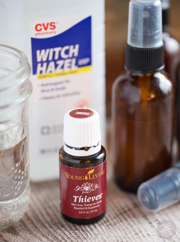 DIY Thieves Spray to kill those germs on surfaces and your hands! You gotta make yourself a bottle and then make more for your friends and family!