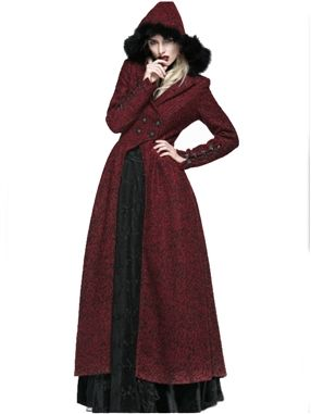 Queen of Hearts Coat by Punk Rave