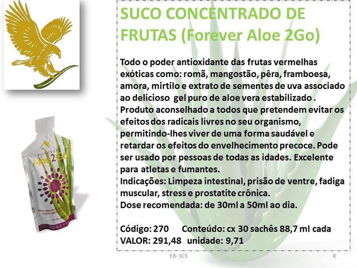 SUCO CONCENTRADO DE FRUTAS (Forever Aloe 2Go)
