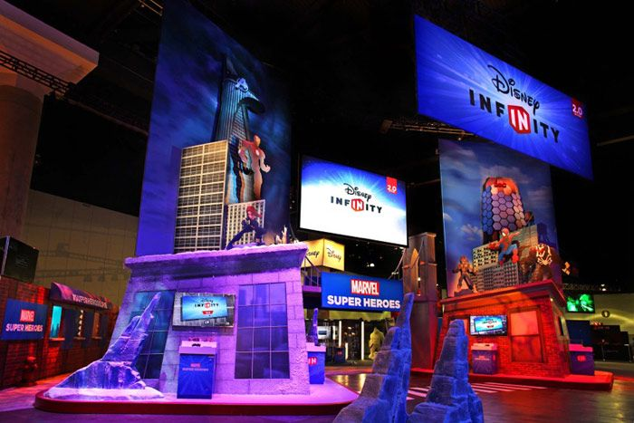 Exhibition Booth Contractor Sia : On the e show floor disney interactive showcased its