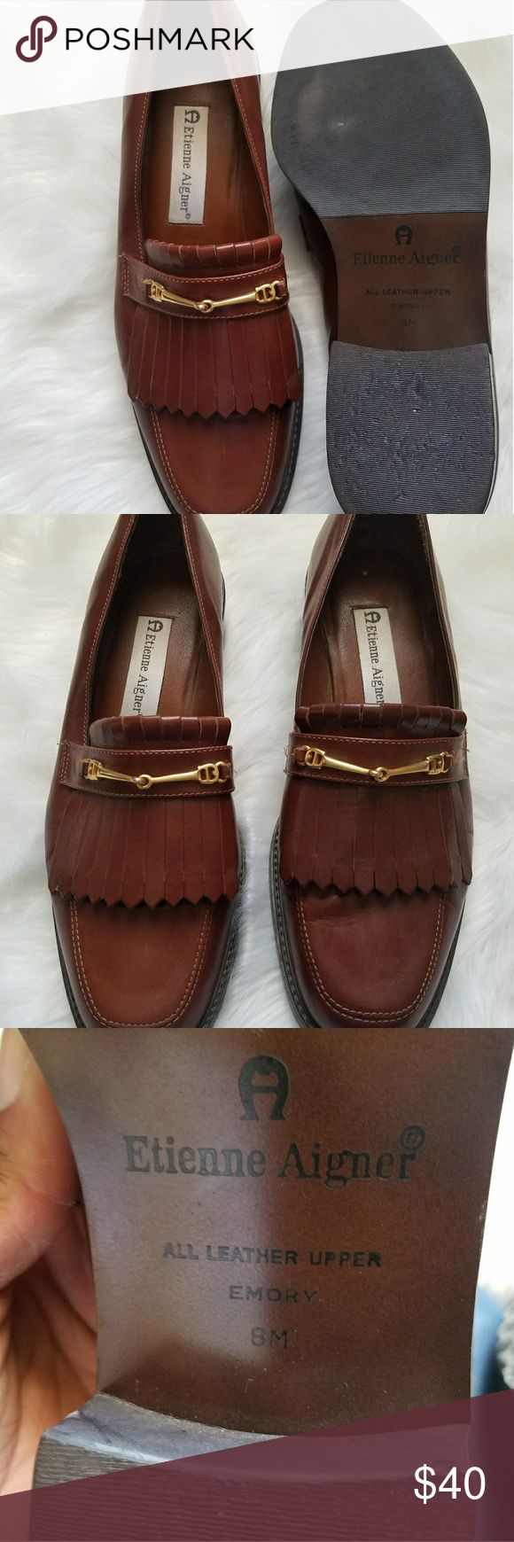 Etienne Aigner loafers Etienne Aigner loafers is good condition offers welcome Etienne Aigner Shoes Flats & Loafers