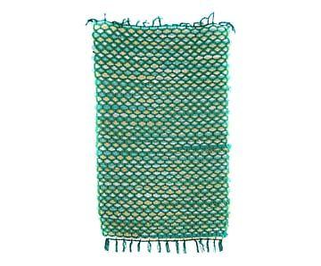 Tappeto in tessuto verde, 85x1x55 cm