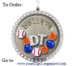 Show your Detroit Tiger love with this Origami Owl Living Locket.  #gotigers #Detroit #tigers #baseball #love You can find it here --> www.youro2go2.origamiowl.com