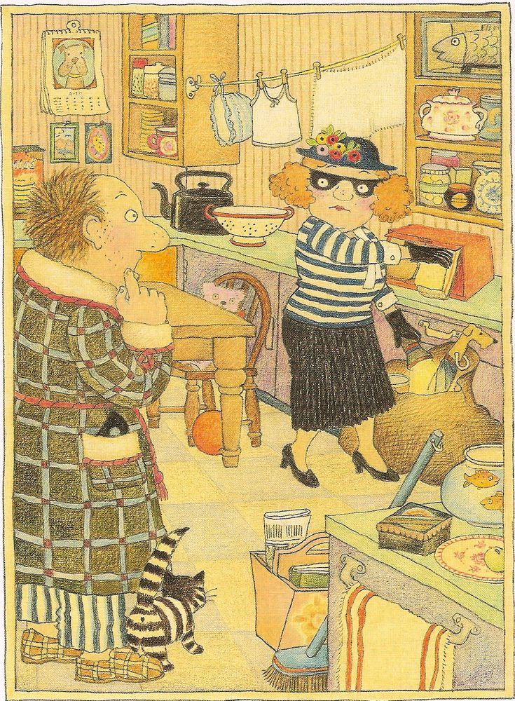 Burglar Bill . Here's Bill's cohort Betty, looks like she's got caught in the act!
