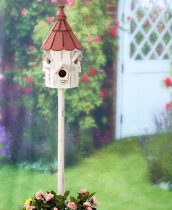 Victorian Birdhouse Yard Garden Stake Bird Lovers Outdoor Home Decor