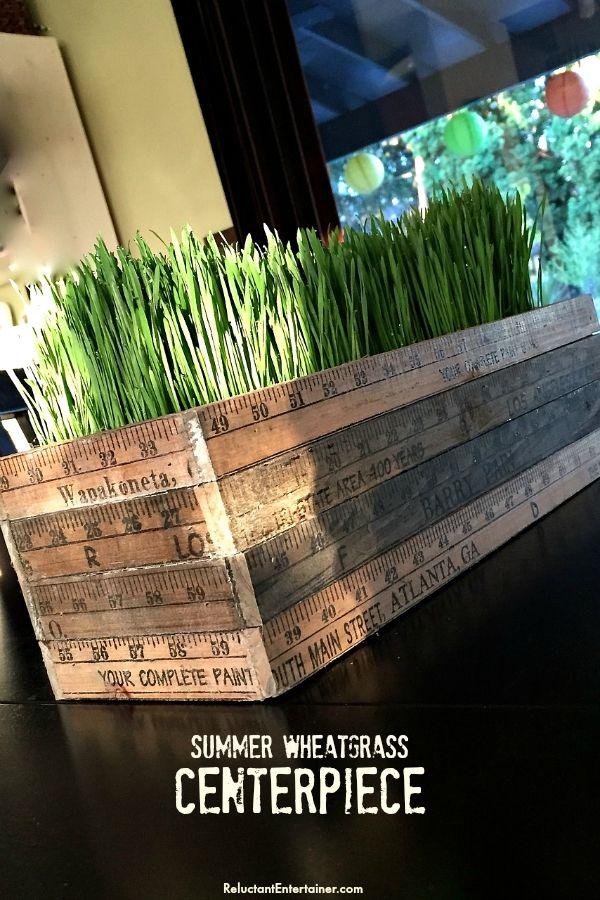 Wheatgrass Summer Centerpiece | ReluctantEntertainer.com