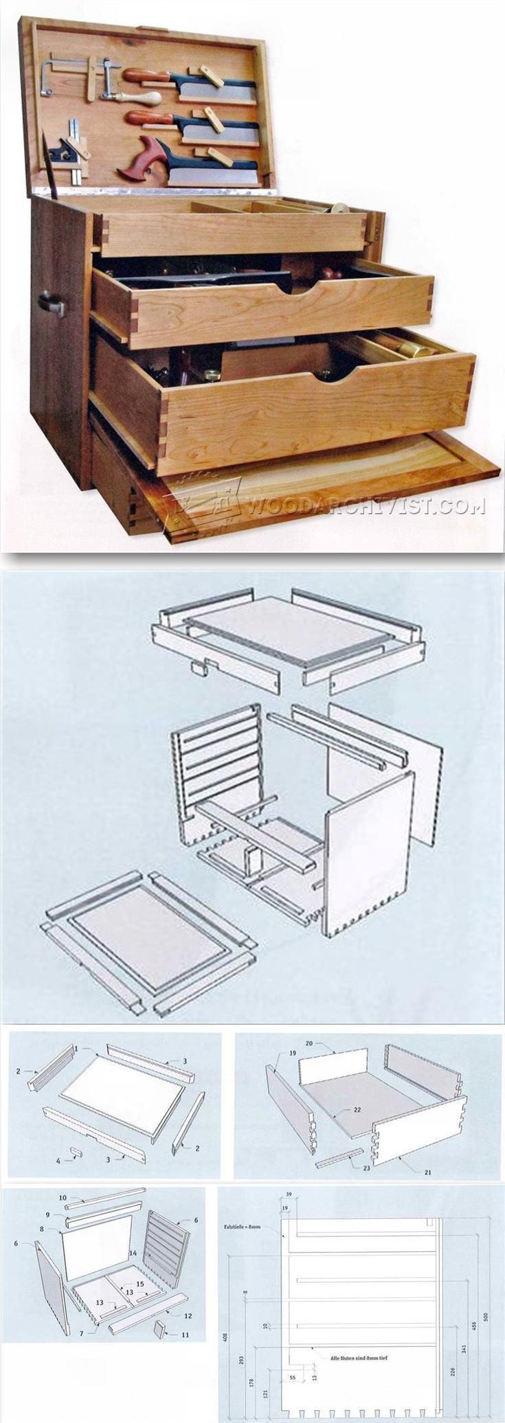 Woodworking Tool Chest Plans - Workshop Solutions Projects, Tips and Tricks | http://WoodArchivist.com