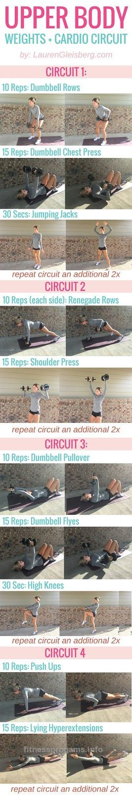 Fitabulous Fall Fitness Calendar: Upper Body Circuit – 10/22 | Lauren Gleisberg | Happiness, Health, & Fitness UPPER BODY WEIGHT TRAINING & CARDIO CIRCULE | click for full workout programs http://www.fitnessprogams.info/2017/06/10/fitabulous-fall-fitness-calendar-upper-body-circuit-1022-lauren-gleisberg-happiness-health-fitness/