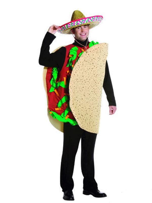 Taco kostuum Mexicaans voor volwassenen. Taco kostuum voor volwassenen, one size only. Exclusief hoed. One size model (M/L). Carnavalskleding 2015 #carnaval
