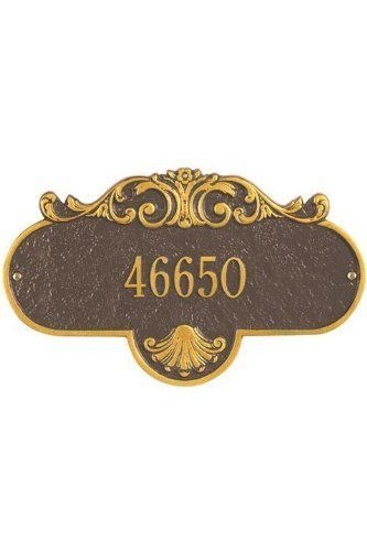 Rochelle One-Line Standard Wall Address Plaque - standard/1 line, Copper by Home Decorators Collection. $85.00. Rochelle One-Line Standard Wall Address Plaque - It's Your Own Little Corner Of The World - So Why Not Mark It With Pride? A House Sign Announces A Message Of Distinction. These Premium, Textured And Dimensional Address Plaques Are Designed With Large Letters And Numbers For Maximum Visibility. Choose From Our Exceptional Array Of Custom Address Plaques To Fi...