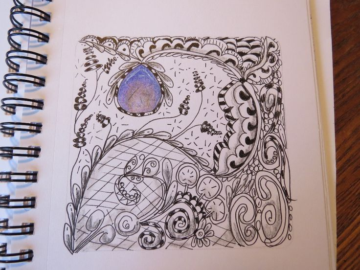 Experimenting with Zentangle Patterns