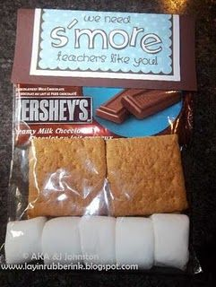 Smore...so cute...I think my student council kids could make this for teacher appreciation week...