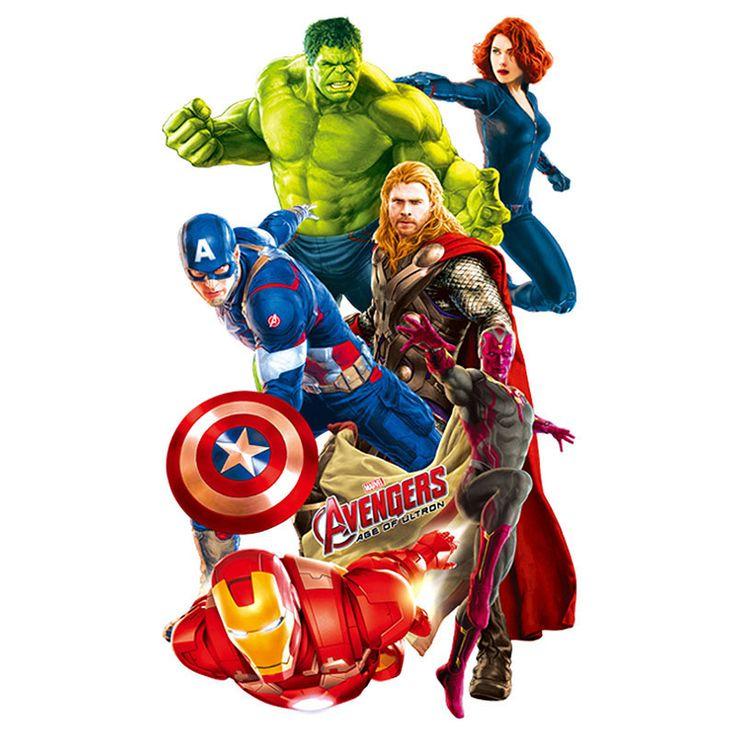 New Styles Wall Stickers Super Hero Avengers Hulk Peel and Stick
