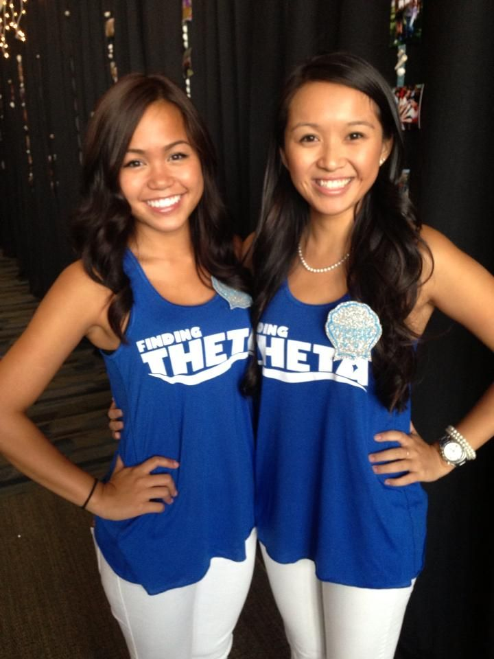 "Theme idea: Kappa Alpha Theta, Beta Mu/Nevada-Reno used a ""finding Theta"" theme for recruitment! #theta1870"