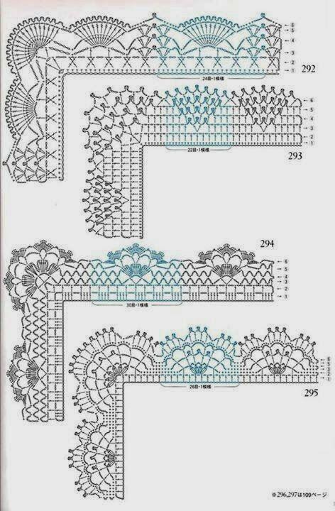 Crochê Tricô - Gráficos: Barradinho