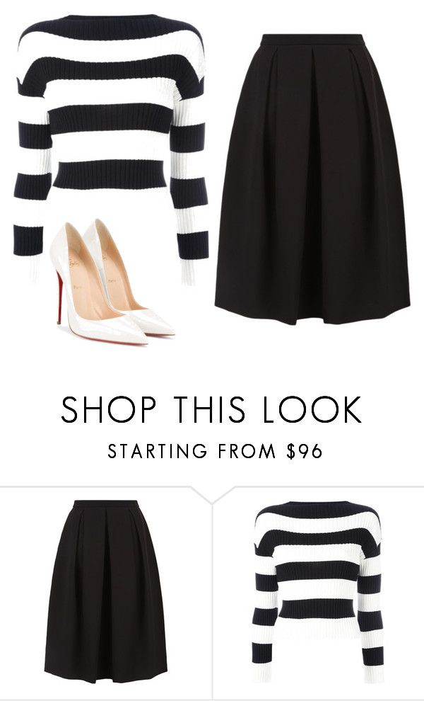 """""""Untitled #270"""" by jovanaaxx on Polyvore featuring Monsoon, Boutique Moschino and Christian Louboutin"""