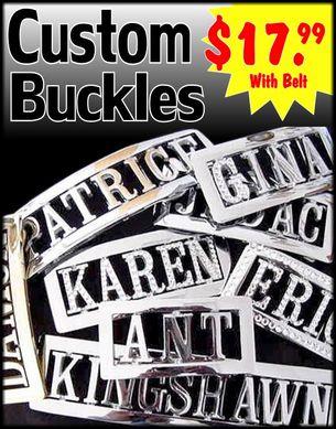 Personalized Custom Belt Buckle