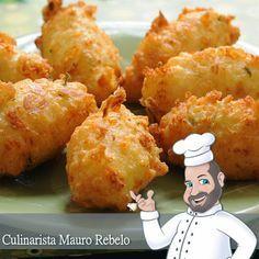 Mauro Rebelo: Bolinho de Arroz Fofinho - Olá pessoal, a Cilene Gomes postou uma receita de bolinhos de arroz. A Cilene tem um buffet e faz esses bolinhos em sua mesa de Churrasco.