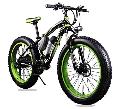 Richbit-Updated-Black-Green-Electric-Bike-TP12-36V-350W-Lithium-Battery-Electric-Mountain-Bicycle-with-Shimano-21-Speeds-40-inch-Fat-Tire-Suspension-Fork