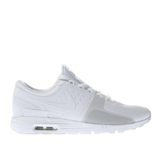 nike air max zero womens white & grey trainers