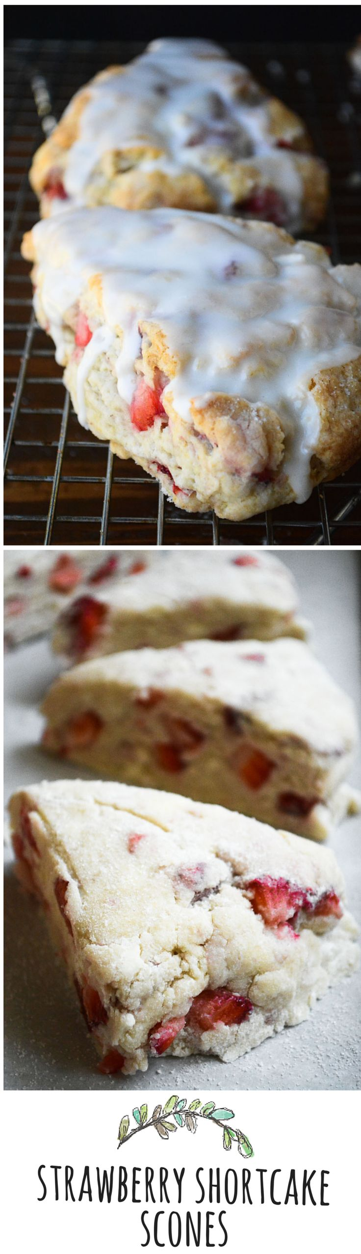 Luscious ripe strawberries in a tender scone!