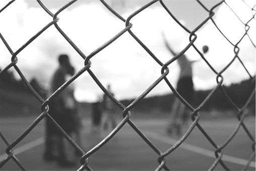 Chainlink, Fence, Basketball, Court