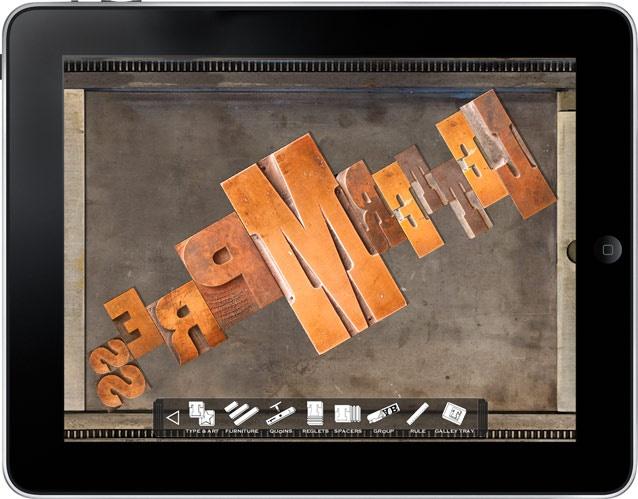 LetterMpress - god gammel måte å produsere trykk på - overført til iPad