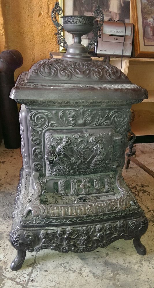 Antique Portland Stove Foundry Atlantic No 19 Wood Cook