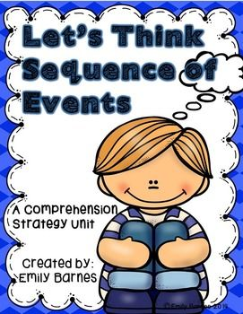 Let's Think Sequence of Events: Activities for Teaching Sequence of Events  Teacher Notes p.3 Sequence of Events Anchor Poster p.4 Worksheets p.5-8 Interactive Notebook Pages p.9-12 Sequence of Events Dog Head Craft p.13-17 Sequence of Events Butterfly Mobile p.18-24 Sequence of Events Banana Craft p.25-30 Sequence of Events Guitar Craft p.31-35 Sequence of Events Garden Craft p.36-41 Thanks + Credits p.42 The idea behind these activities is that they can be used with any book.