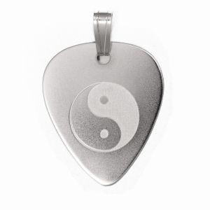 PuasdePlata.com - Púas de Plata - PÚASdePLATA COLGANTE - Colgante PÚA de PLATA (Silver Guitar Pick Pendant) YIN-YAN