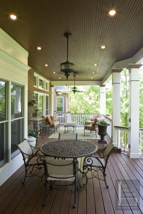 porch flat roof beadboard ceiling