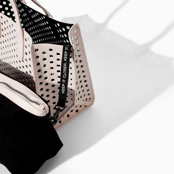 PERFORATED SHOPPER BAG from Zara, removable interior pouch