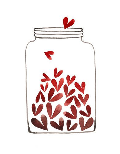hearts in a jar #illustration #drawing #graphic