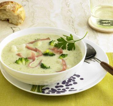 Blumenkohl-Brokkoli-Suppe